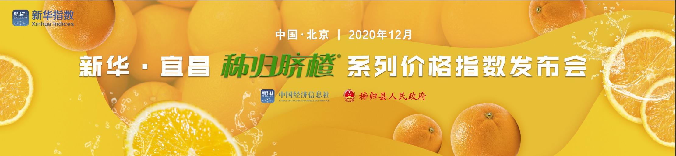 新华宜昌秭归脐橙系列价格指数发布会